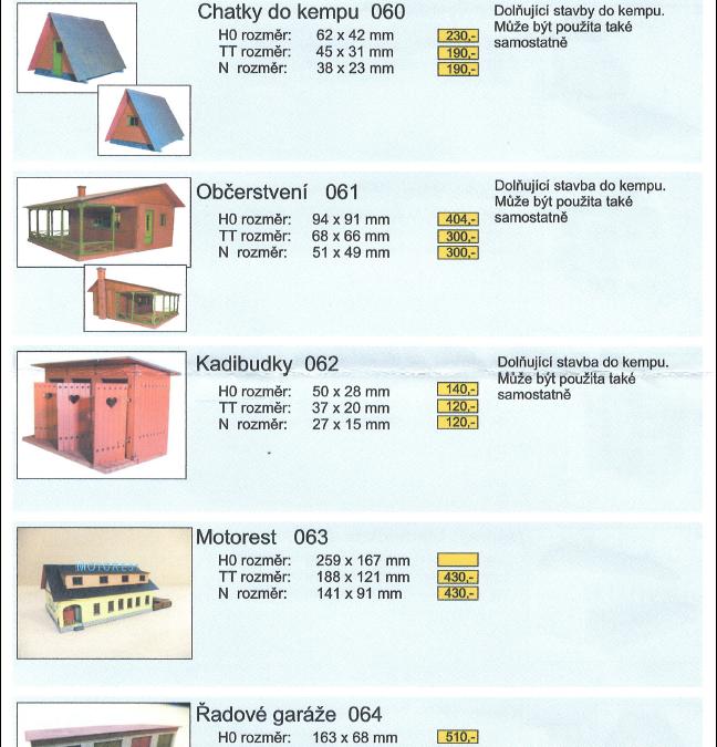 Katalog AWEPE novinek a připravovaných staveb