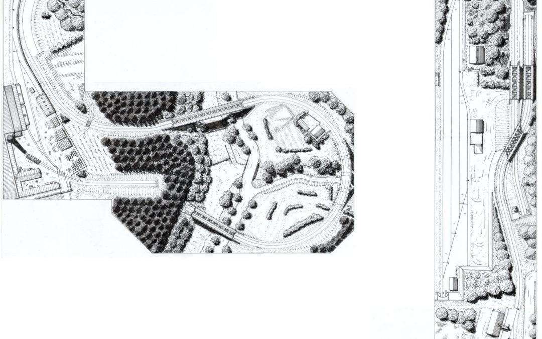 Grafická podoba plánů kolejiště dle Milana Ferdiána